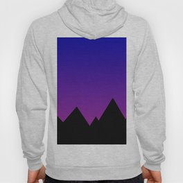 Mountains at Sunset (Blue & Magenta) Hoody