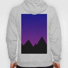 Mountains at Sunset (Blue & Magenta) Hoody