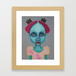 Demokrit`s girl Framed Art Print