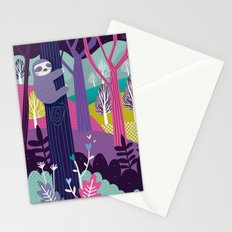 Sloth in the woods Stationery Cards