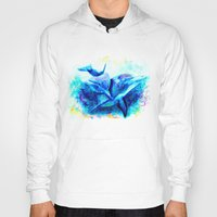 dolphins Hoodies featuring Dolphins by isabelsalvadorvisualarts