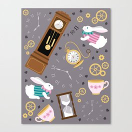 Late For The Party Canvas Print