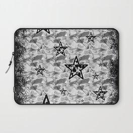 White Toxic Stars Laptop Sleeve