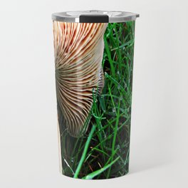 Mushroom and Dewdrops Travel Mug