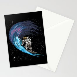 Space Surfer | Galaxy Milky Way Astronaut Stationery Cards