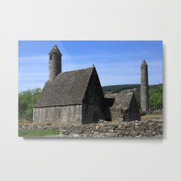 St Kevins Church And Round Tower Metal Print
