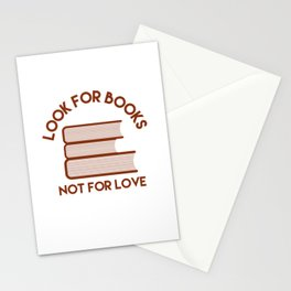 Looks for Books, Not for Love Stationery Cards