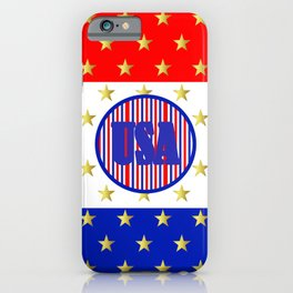 USA Stars And Stripes - United States iPhone Case