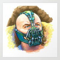 bane Art Prints featuring Bane by Illusoryart