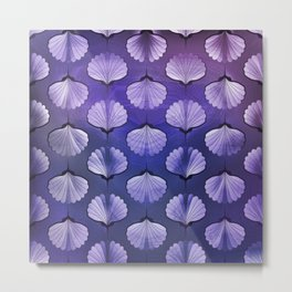 Blue sea geometric pattern Metal Print