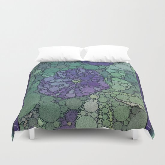Percolated Purple Potato Flower Duvet Cover