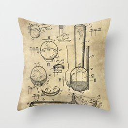 Ice Cream Scoop Blueprint Industrial Farmhouse Throw Pillow