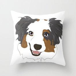 Custom Aussie Portrait Throw Pillow