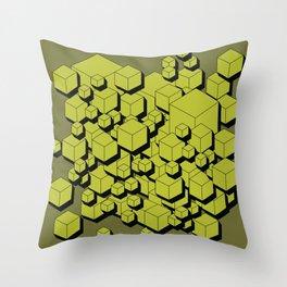 3D Futuristic Cubes V Throw Pillow