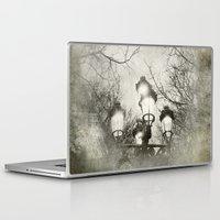 lantern Laptop & iPad Skins featuring Vintage Lantern by Victoria Herrera