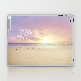 the beach is my happy place Laptop & iPad Skin