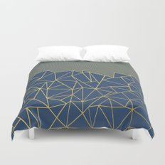 Ab Lines 45 Navy and Gold Duvet Cover