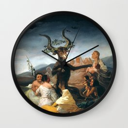 The Sabbath of Witches Goya Painting Wall Clock