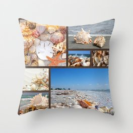 Seashell Treasures From The Sea Throw Pillow