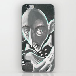 creepy spooky nosferatu iPhone Skin