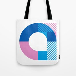 Rotation Alphabet 'a' On White Tote Bag
