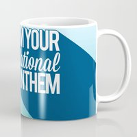 the national Mugs featuring National Anthem by Stan Pro