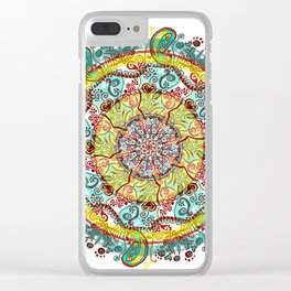 Tigan Paisley Clear iPhone Case