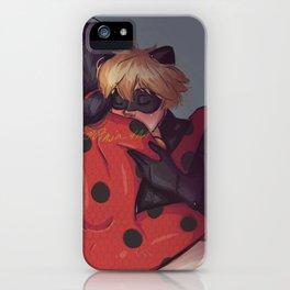 "Miraculous: LadyNoir Artwork - ""Kiss The Shoulder"" iPhone Case"