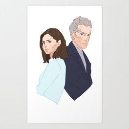 Doctor and Clara - Colour Art Print