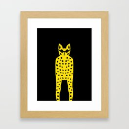 Cool cat dude! Framed Art Print