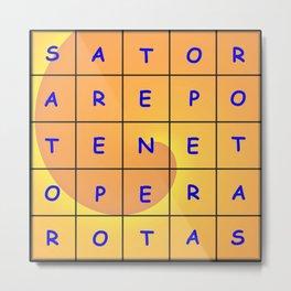 Magical tetragon of letters Metal Print