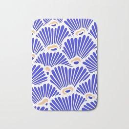 Blue Shell Pattern Bath Mat