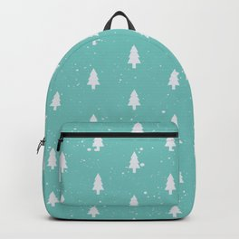 Christmas Trees Pattern Mint Backpack