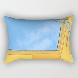 Berlin yellow building seen from below Rectangular Pillow