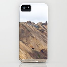 Landmannalaugar rainbow mountain in Iceland - lanscape photography iPhone Case