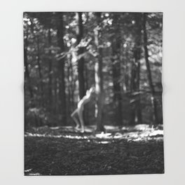 nymph / bw Throw Blanket