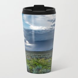 Desert Rain - Summer Thunderstorms Near Taos New Mexico Metal Travel Mug
