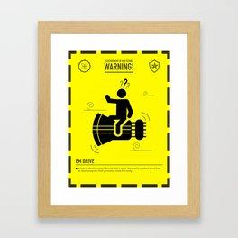 Mad Science: EM Drive Framed Art Print