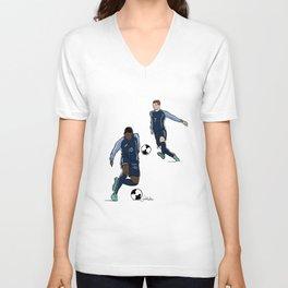 Fifa World Cup Champions Mbappé & Griezmann France Unisex V-Neck