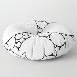 Geometric Abstract - Circles (Black) Floor Pillow