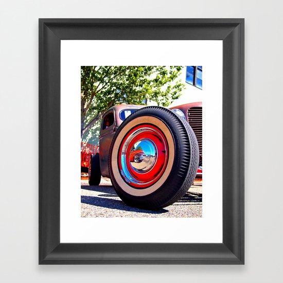 The wheel deal Framed Art Print
