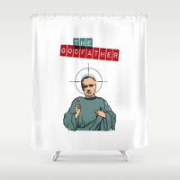 the godfather Shower Curtains featuring The godfather by Marta Colomer