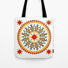 Mandala warm colour pallette Tote Bag