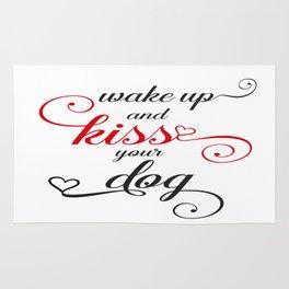Wake up and Kiss your Dog Rug