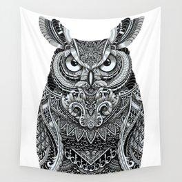 Fancy Great Horned Owl Wall Tapestry