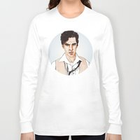 benedict cumberbatch Long Sleeve T-shirts featuring Benedict Cumberbatch by Alisha Henry