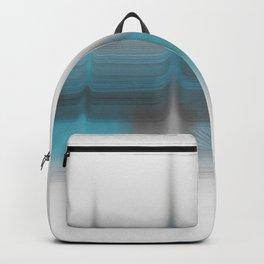 Gray & blue blended print Backpack
