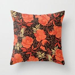 Art nouveau florals Throw Pillow