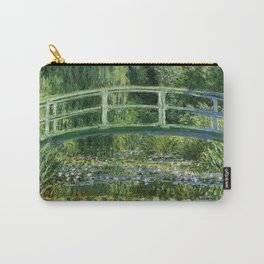 Water Lilies and Japanese Footbridge, Claude Monet Carry-All Pouch