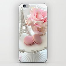 Shabby Chic Paris Pink Macarons Eiffel Tower Roses Romantic Prints and Home Decor iPhone & iPod Skin